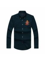 PRL Badge Crest Longsleeve Shirt - Navy Blue