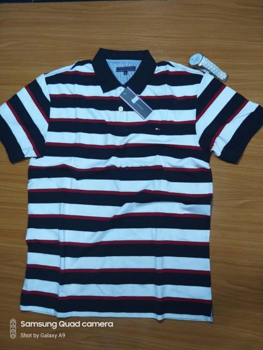 Colored Striped Men's Polo