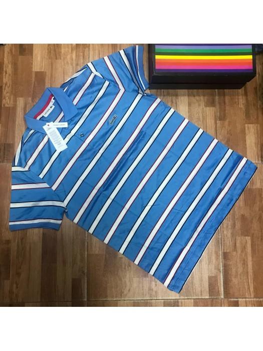 Blue And White Stripe Polo