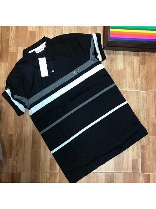 Black And White Collar Polo