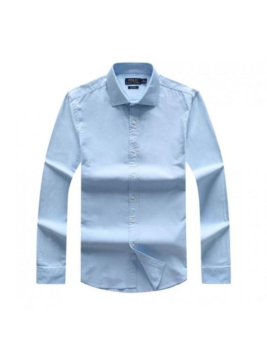 Plain Blue Men's Long Sleeve