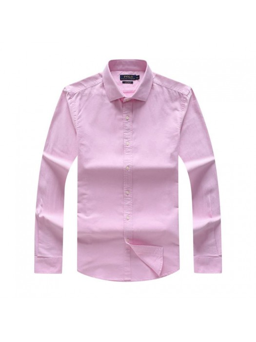 Plain Pink Men's Long Sleeve