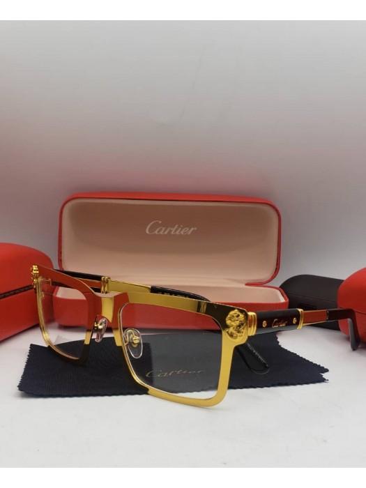 Cartier gold transparent sunglasses