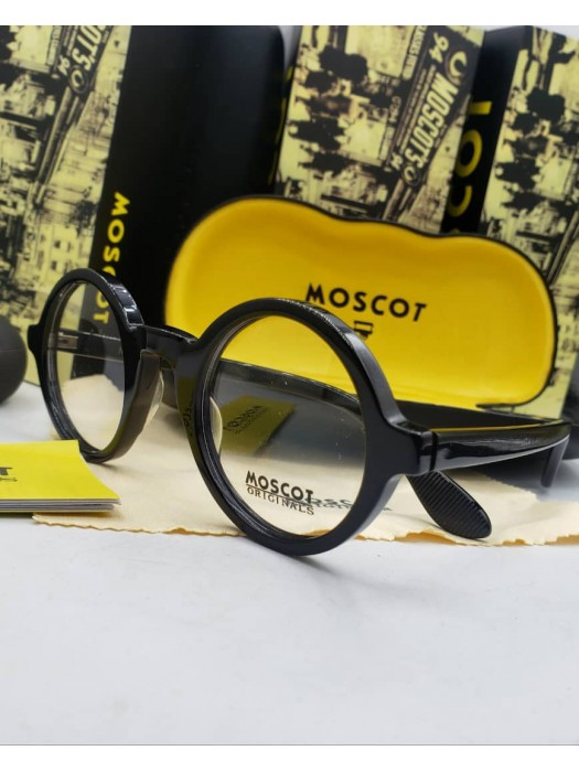 Moscot round transparent sunglasses