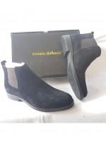 Black Suede Chelsea Boot