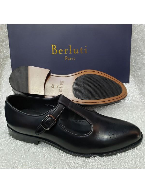 Black Men's Brogues Sandals
