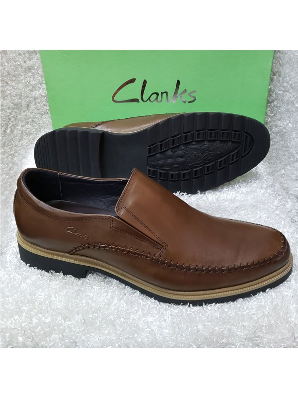 Brown Leather Men's Clarks Loafers