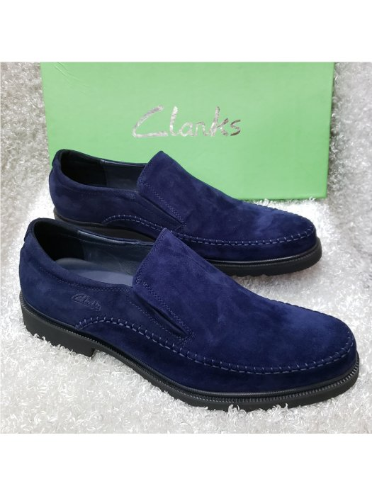 Blue Suede Clarks Men's Loafer Shoe