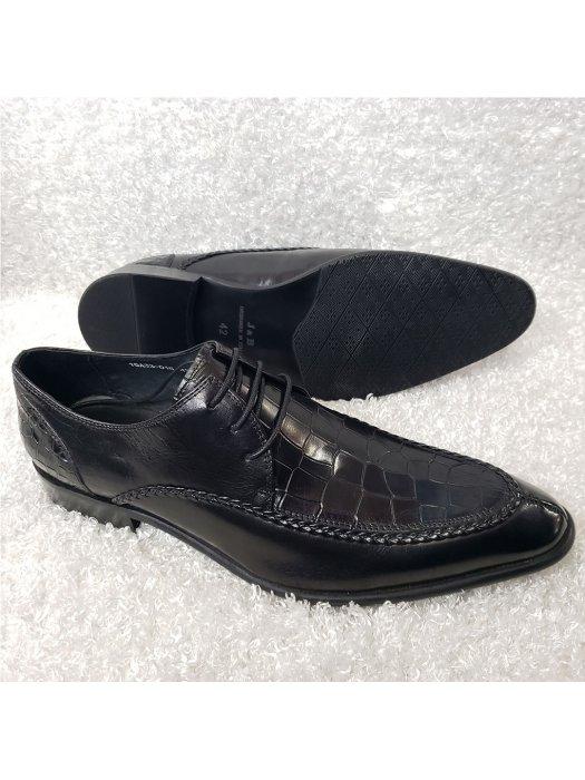 Croc Vamp Men's Lace-up Shoe
