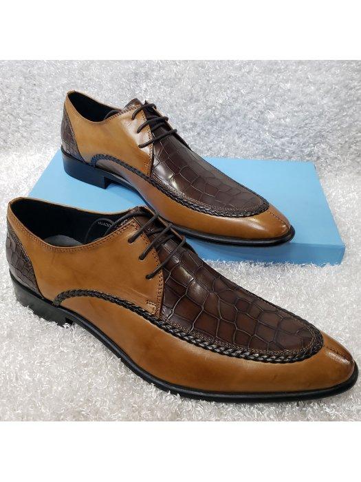 Vamp Croc Lace-up Men's Laced Shoe