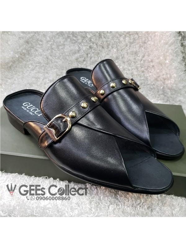df9ecd8dd91 Black Men s Gucci Half Shoe