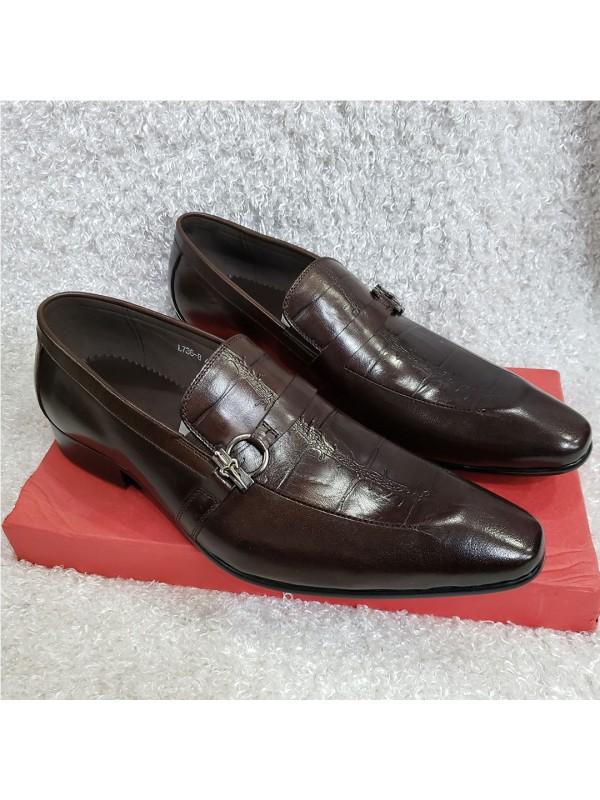 5c47e417ec8 Croc Monk Loafer Shoe - Brown ...