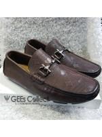 Ferragamo Brown Horsebit Loafers