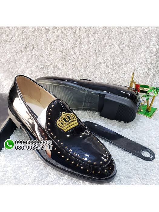 Patent Black Men's Loafer Shoe