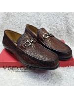 Designed Feragamo Men's Loafers - Brown