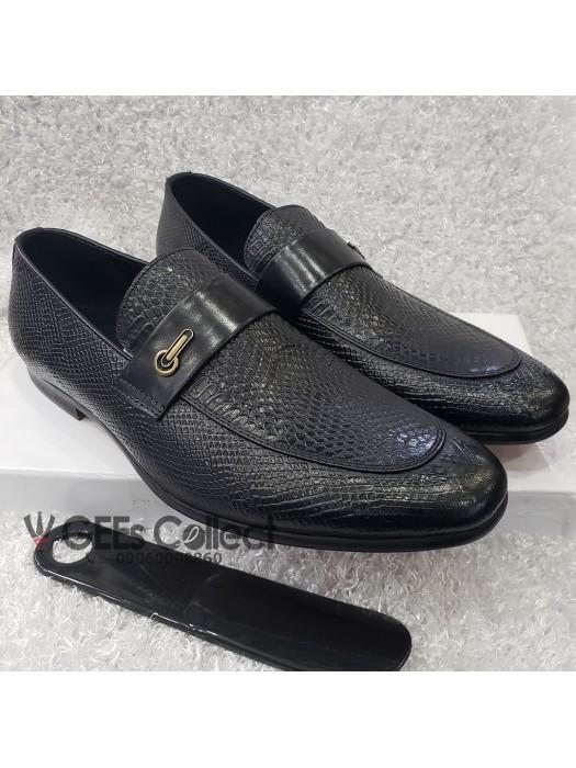 Designed Leather Monk Shoe
