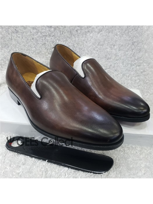 Dark Brown Plain Leather Shoe