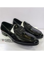 Patent Bow Men's Loafer Shoe