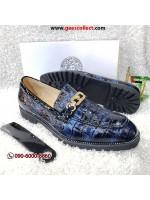 Blue Patent Horsebit Loafer