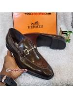 BrownHermes Patent Loafer