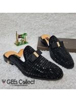 GG Studded Suede Half Shoe