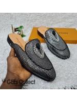 LV Silver Half Shoe