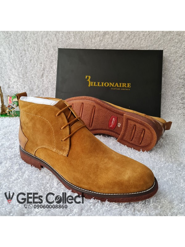 Billionaire Brown Suede Lace-up Boot