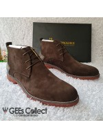 Billionaire Coffee Brown Suede Lace-up Boot