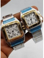 Cartier Silver Chronograph Unisex Watch