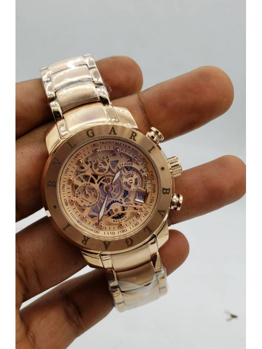Bvlgari Rose Gold Chronograph Watch