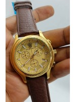 Versace Leather Chronograph Watch