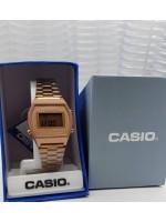 Rose Gold Chain Casio Watch